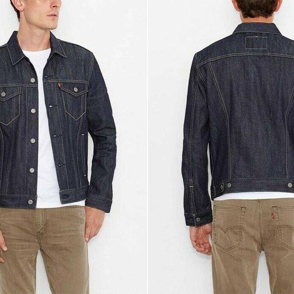 Levis Trucker Jacket Denim Jacket Rigid Men Medium